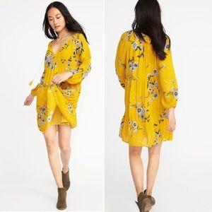•Old Navy• Tassel-Tie Boho Swing Floral Dress